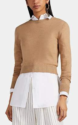 Jil Sander Women's Wool Crop Crewneck Sweater - Camel