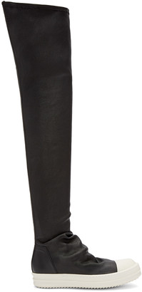 Rick Owens Black High Sock Boots $1,875 thestylecure.com