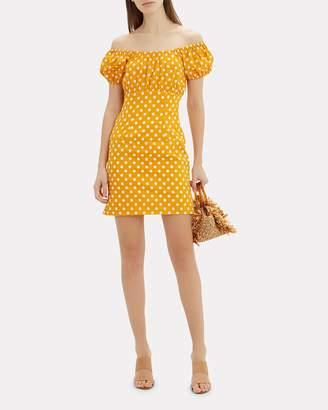 Caroline Constas Calla Polka Dot Mini Dress