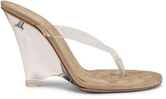 Yeezy Season 8 Wedge Thong Sandal in Clear | FWRD