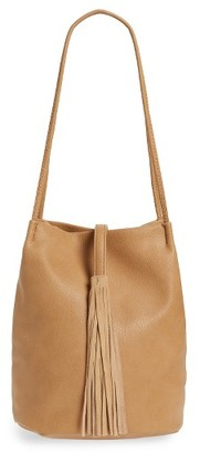 Street Level Faux Leather Bucket Bag - Brown $52 thestylecure.com