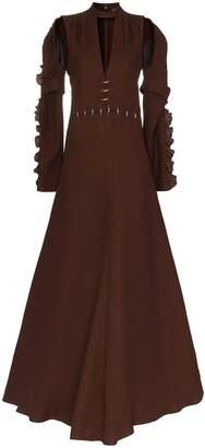 Chloé Embellished waist silk gown