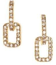 Vince Camuto Crystal Link Drop Earrings