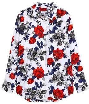 Equipment Floral-Print Silk Shirt