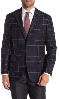 Hickey Freeman Windowpane Classic Fit Camel Hair & Wool Sportcoat
