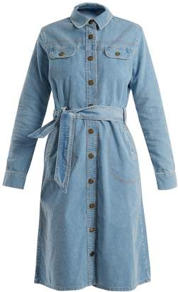 MiH Jeans Newton waist-tie cotton-corduroy dress