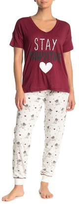 PJ Salvage Peace Love Dogs Pajama Joggers