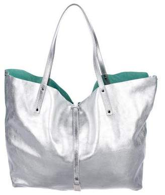 Pre Owned At Therealreal Tiffany Co Metallic Reversible Tote