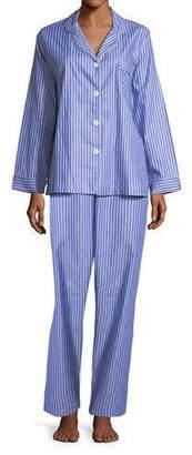 P Jamas Carlyle Pinstriped Pajama Set