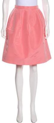 Oscar de la Renta Silk Knee-Length Skirt w/ Tags