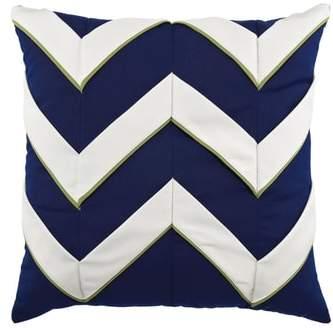 Navy Cruise Chevron Indoor/Outdoor Accent Pillow