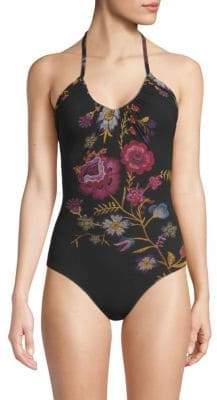 Fuzzi Swim Folk One-Piece Floral Swimsuit