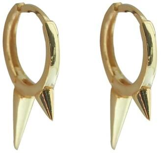 Wild Hearts Spiked Huggie Earrings Gold
