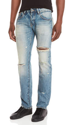 Cult of Individuality Greaser Slim Straight Distressed Jeans
