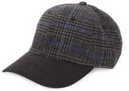 Block Headwear Plaid Faux Suede Hat