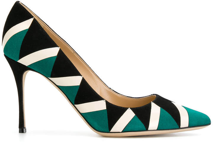 Sergio Rossi patterned pumps
