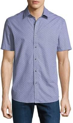 Michael Kors Men's Carter Check Print Short-Sleeve Sport Shirt