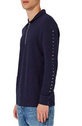 Men's Topman Right Of Passage Graphic Long Sleeve Polo $40 thestylecure.com