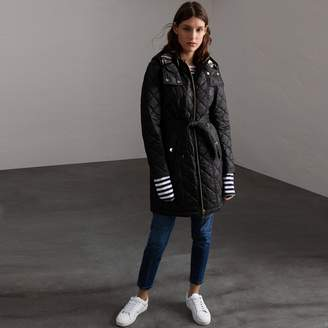 Burberry Detachable Hood Quilted Showerproof Parka