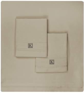 Luxor Linens Valentino 1200 TC Monogram Sheet Set (King)