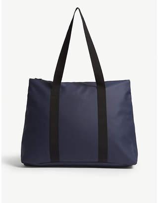 Rains Blue Waterproof City Tote Bag