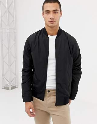 Asos DESIGN bomber jacket in black