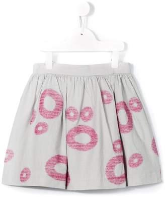 Il Gufo circle jacquard skirt
