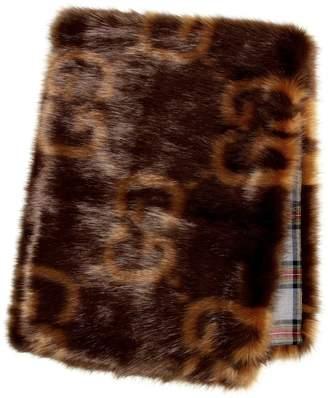 Gucci GG faux fur scarf