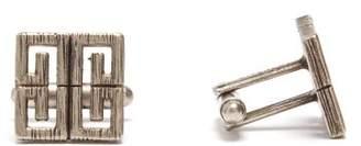 Givenchy 4g Logo Cufflinks - Mens - Silver