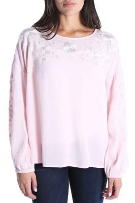 KUT from the Kloth Ailiana Embroidered Blouse