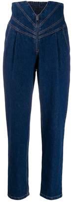 ATTICO panelled straight leg jeans