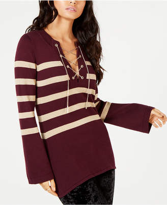 Michael Kors Chain Lace-Up Sweater, in Regular and Petite Sizes