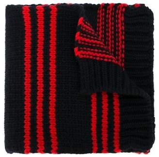 Moncler striped knit scarf