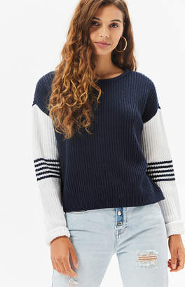 La Hearts Stripe Colorblocked Sweater
