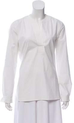 Diane von Furstenberg Long Sleeve V-Neck Top w/ Tags
