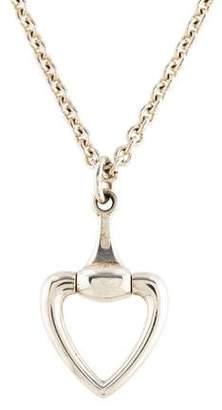 Gucci Heart Horsebit Pendant Necklace