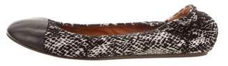 Lanvin Animal Print Wool Flats
