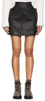 Helmut Lang Women's Stretch-Leather Miniskirt