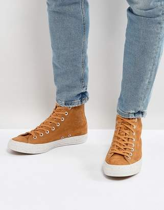 Converse Chuck Taylor All Star Hi Sneakers In Tan 157522C