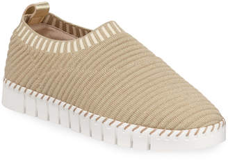 Neiman Marcus Play Sparkly Knit Slip-On Sneakers