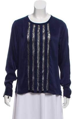 Equipment Silk Lace Blouse