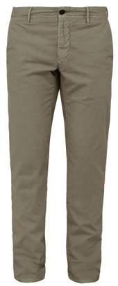 Incotex Slim Leg Cotton Blend Chino Trousers - Mens - Grey