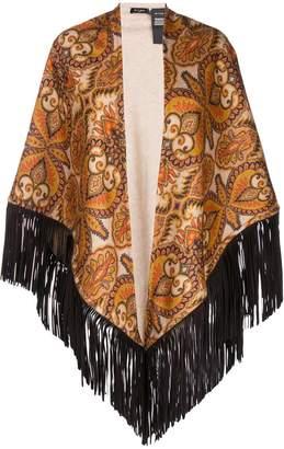 Etro paisley fringed shawl