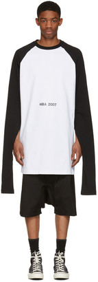 Hood by Air White '2007' Oversized Overnight Pullover $310 thestylecure.com