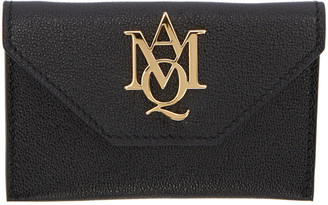 Alexander McQueen Black Insignia Envelope Card Holder $245 thestylecure.com