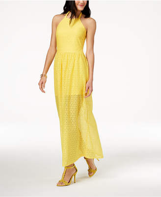 Macy's The Edit By Seventeen Juniors' Crocheted Maxi Dress, Created for