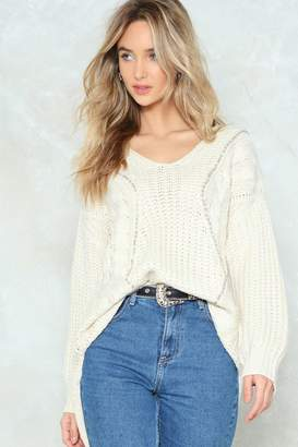 Nasty Gal Had Knit Up to Here Cable Sweater