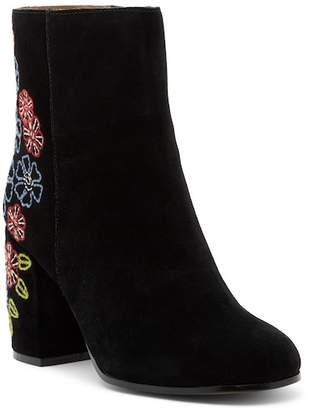 Bettye Muller Shannon Embroidered Suede Mid Boot