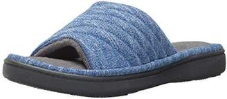 Isotoner Women's Space Dyed Andrea Slide Slipper with Moisture Wicking for Indoor/Outdoor Comfort and Arch Support
