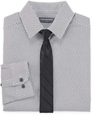 Van Heusen Boys Point Collar Long Sleeve Stretch Shirt + Tie Set Preschool / Big Kid